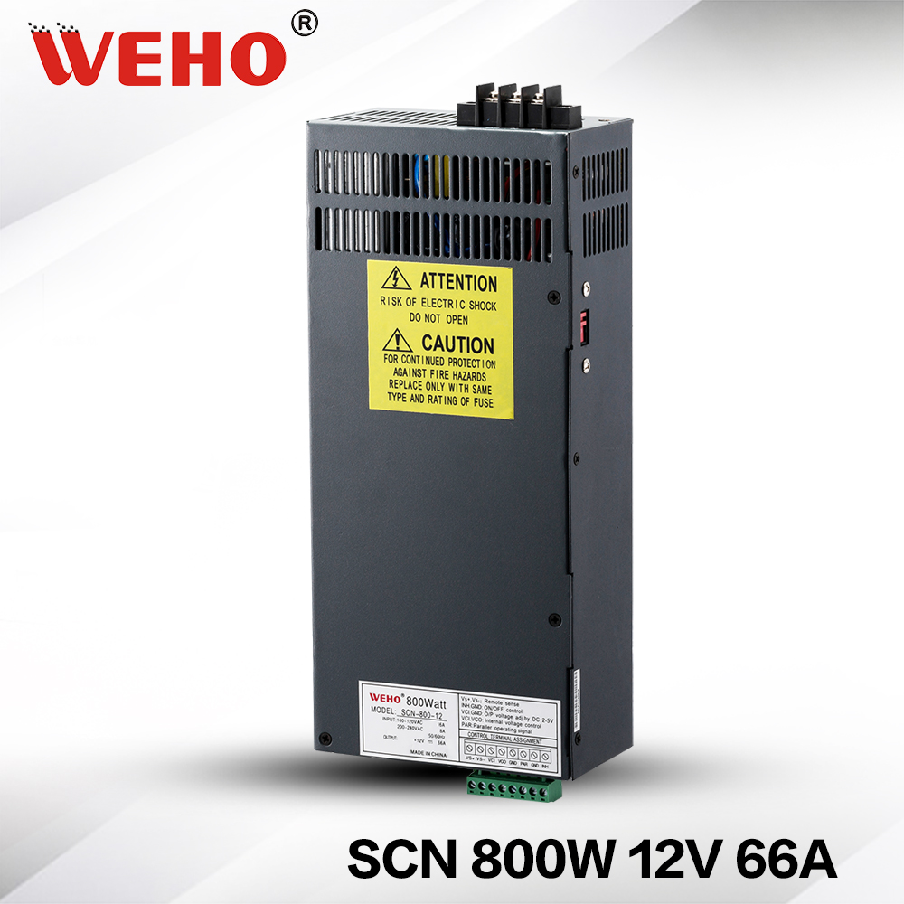 (SCN-800-12) Multimachine Paralleled 12vdc 800w power supply 800w 12v 66a switch mode power supplies limit switches scn 1633sc
