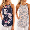 Casual Elegant Floral Blouse Slim Sleeveless Work Wear Blusas Feminina Tops Shirts Plus Size