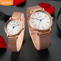 Couple Watch For Men And Women Top Brand Luxury Stainless Stee Wristwatches Fashion Waterproof Lovers Watch Valentine Gift Clock