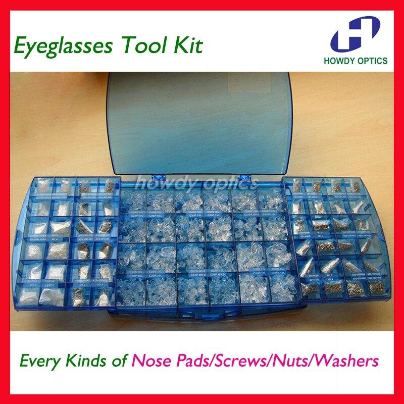 Optical Frames Eyewear Glasses Eyeglasses Screws Nose pads Nuts Washers Repair Took Kit