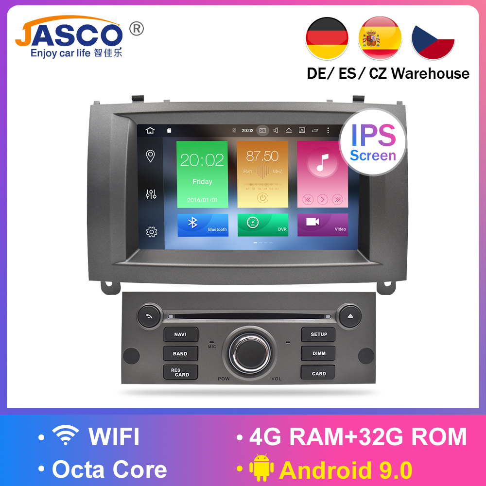 Android 9.0 8.0 9.1 Car DVD Player GPS Glonass Navigation for Peugeot 407 2004-2010 4GB RAM 32GB ROM Multimedia Radio Stereos