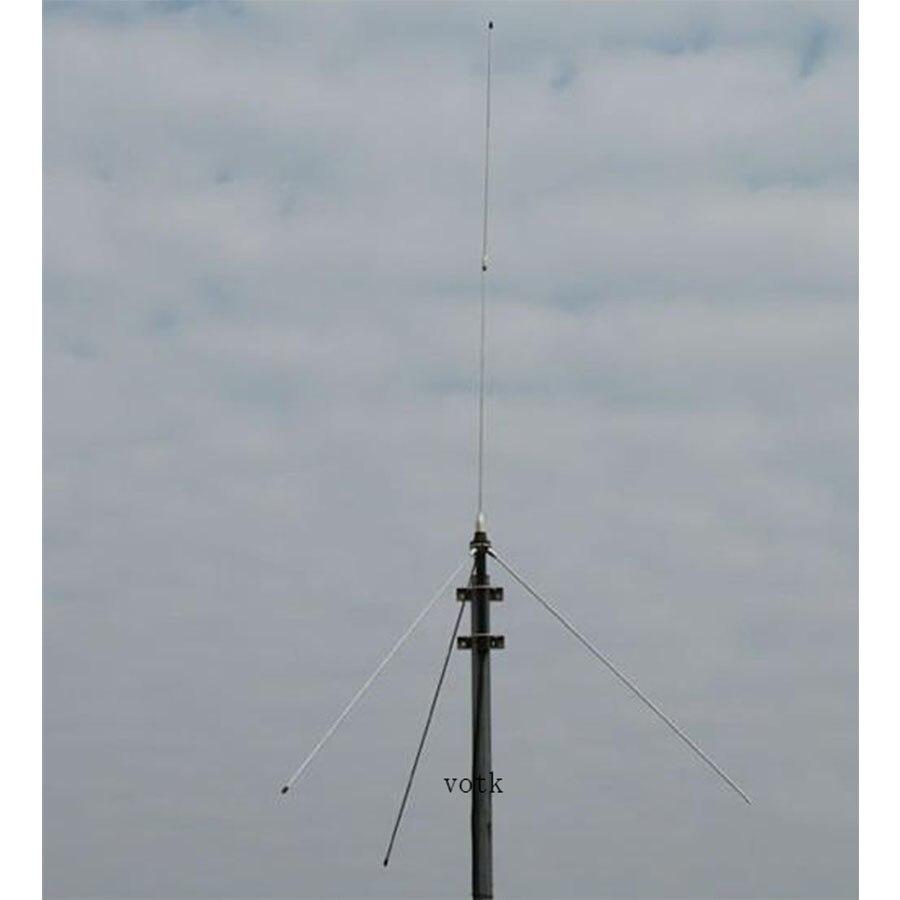 Antenne 1/4 wave GP pour émetteur FM 5 w, 7 w, 15 w, 30 w 50 w, connecteur BNC d'antenne transmetteur Fm avec câble de 15 mètres