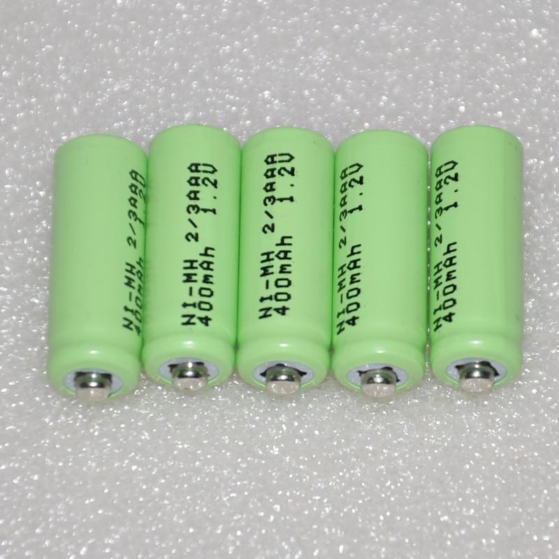 Аккумуляторный аккумулятор UNITEK 1,2 В 2/3 AAA, 400 мАч, 2/3 AAA Ni-MH, для солнечной батареи, игрушки, беспроводной телефон, 3-6
