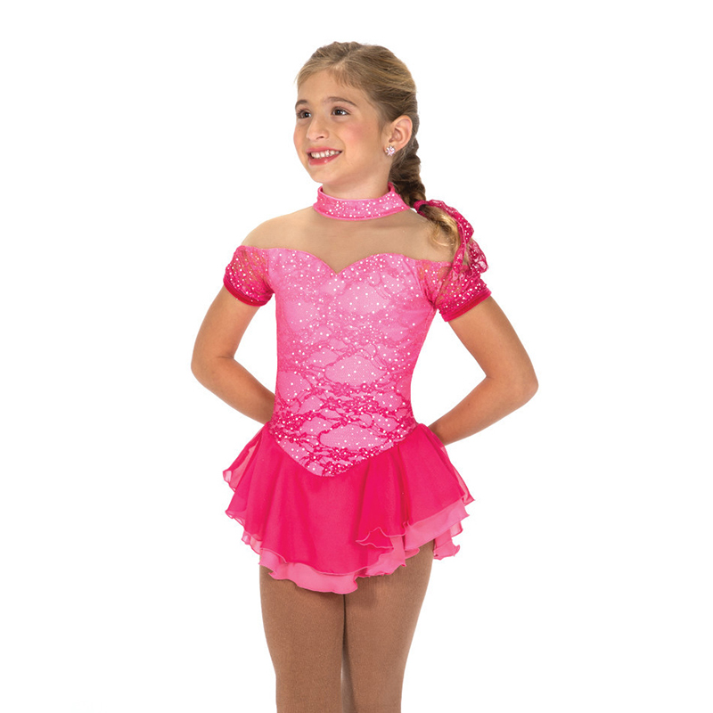 Nasinaya robe de patinage artistique concours personnalisé jupe de patinage sur glace pour fille femmes enfants Patinaje gymnastique Performance 335