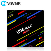 VONTAR H96 MAX плюс ТВ Box Android 8,1 4gm оперативной памяти 64 Гб Rockchip RK3328 USB3.0 H.265 4 K Youtube Netflix Google Play Smart ТВ H96MAX