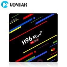 Vontar h96 max mais caixa de tv android 9.0 4gb ram 64gb rockchip rk3328 h.265 4k youtube google play smart tv h96max