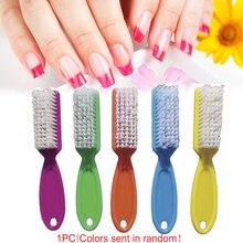 1 шт инструмент для ногтей пластиковый скраб многоцветная Пылезащитная щетка для педикюра маникюрная Щетка с длинной ручкой для удаления пыли для ногтей общее использование