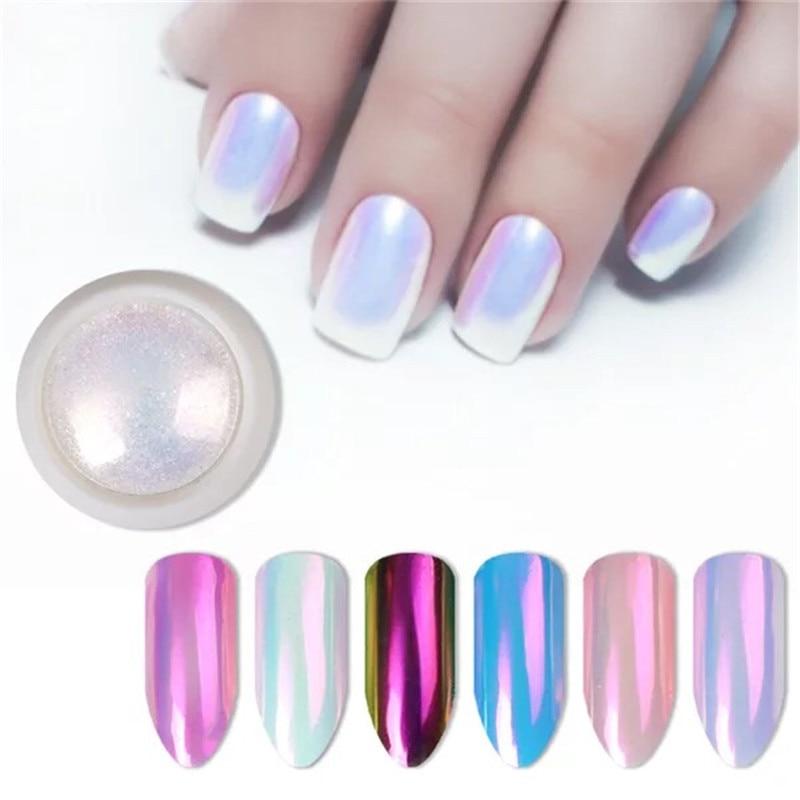 1 pcs aurora neon unicorn nail