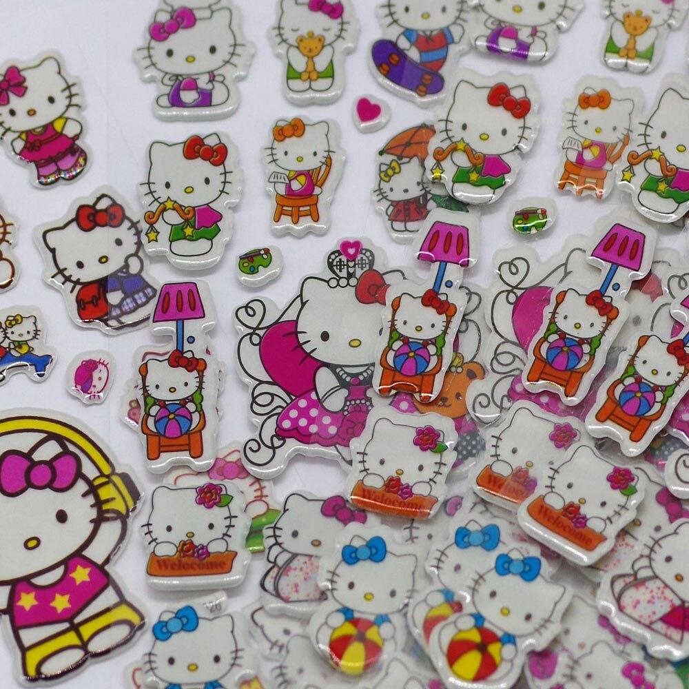 1piece-hot-sale-3d-puffy-bubble-stickers-mixed-cartoon-mickey-cars-spiderman-waterpoof-diy-children-kids-boy-girl-toy-random