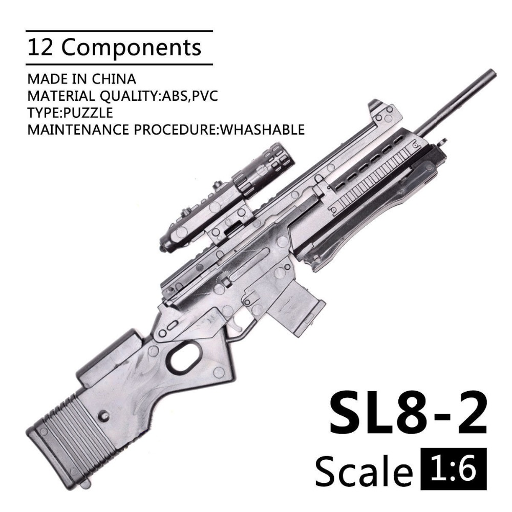 1:6 1/6 Scale 12 Inch Action Figures Rifle SL8-2 Sporting Rifle Mini Model Gun Toy Use For 1/100 MG Bandai Gundam Model Kids Toy