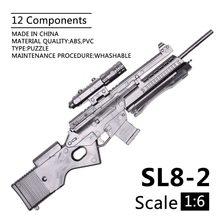 1:6 escala 1/6 12 pulgadas figuras de acción Rifle SL8-2 Rifle deportivo Mini modelo de pistola de juguete de 1/100 MG de Bandai Gundam modelo de juguete