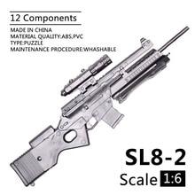 1:6 1/6 escala 12 polegada figuras de ação rifle SL8 2 sporting rifle mini modelo arma brinquedo uso para 1/100 mg bandai gundam modelo crianças brinquedo