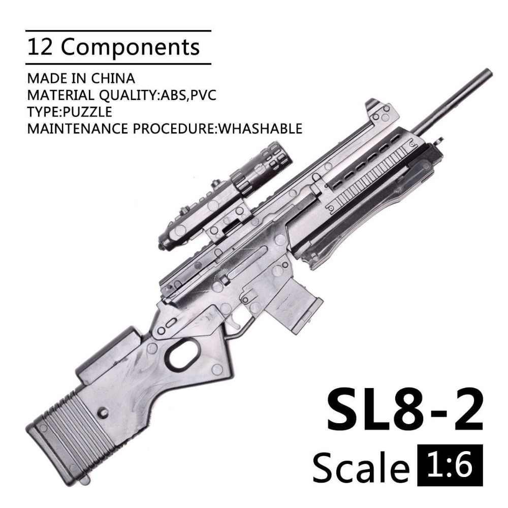 1:6 1/6 escala 12 polegada figuras de ação rifle SL8-2 sporting rifle mini modelo arma brinquedo uso para 1/100 mg bandai gundam modelo crianças brinquedo