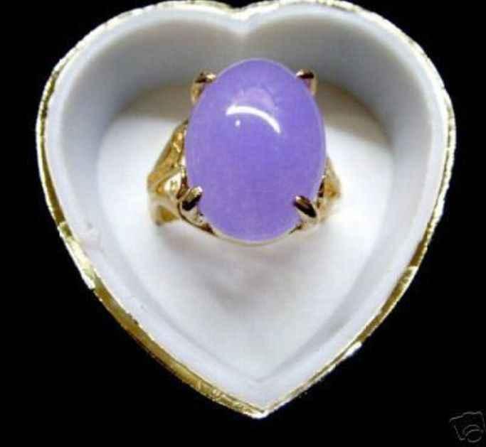 Fine สีม่วง jades แหวนลูกปัด (#6,7, 8,9, 10)