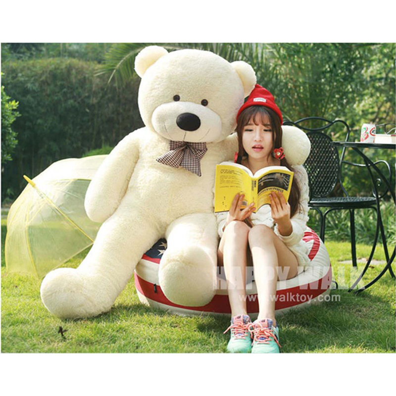 60CM 80CM 100cm 120cm Plush Teddy Bear Skins Stuffed Animal Doll Baby Toys Big Embrace Bear Doll Lovers Christmas /Birthday Gift