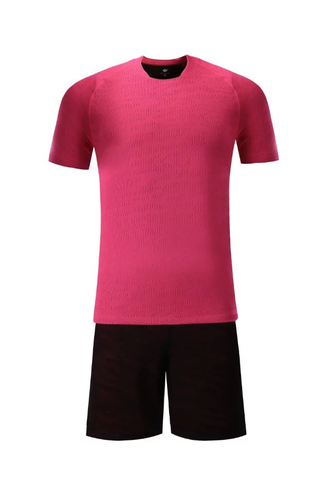 Men short sleeve 2018color size tracking Purple kits jersey adult soccer football suit V ...
