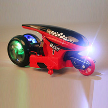 Concept Stunt Motorcycle New 360 Dree Rotation Wireless Remote Control 2 4G Children s Flash Trick