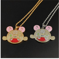 KIKI Takashi MURAKAMI DOB Diamante Electroplate Alloy Pendant Necklace Action Figure Clothes Decoration Toy X1434