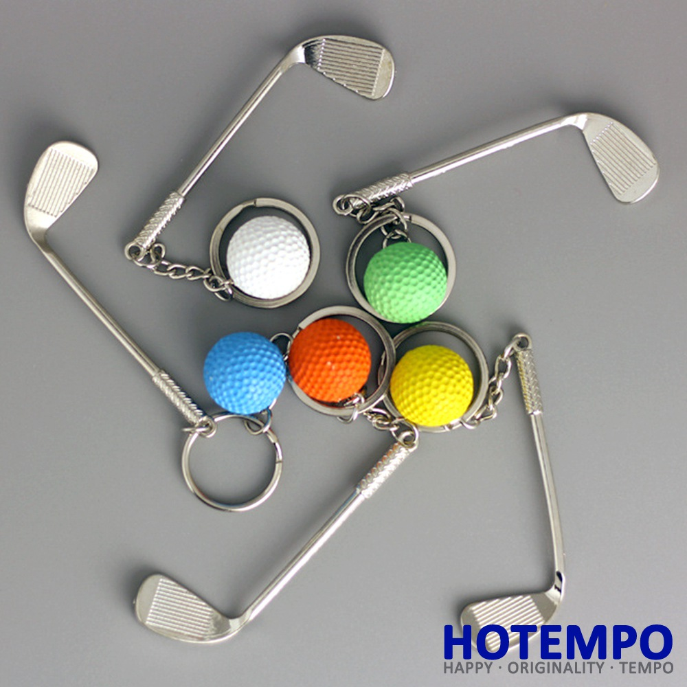 Hotempo Golf clubs Action Figure Golf clubs Keychains Sports Key Covers Kidss Best Gifts