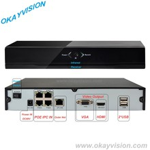 Hot Sale 4 Channel FULL 1080P POE NVR, P2P Onvif 1080P POE NVR, Support Mobile phone Remote view POE NVR