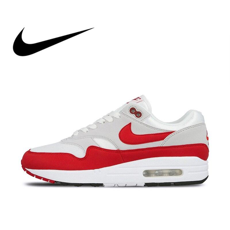 Nike AIR MAX 1 anniversaire hommes chaussures de course Sport en plein AIR chaussures de Sport Designer athlétique 2019 nouveauté 908375-103