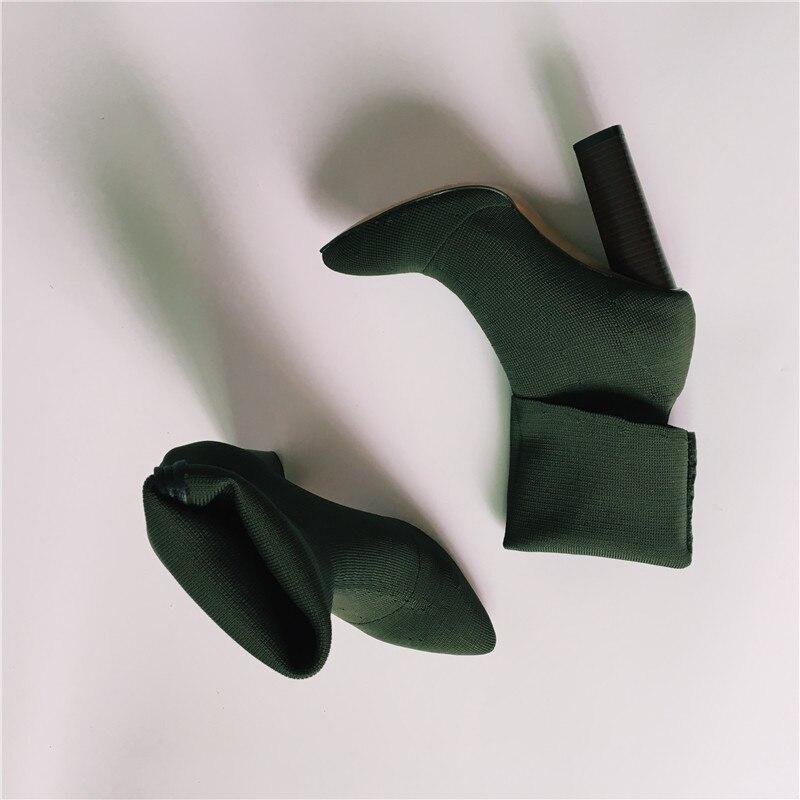 Chaussette Mujer Automne Huarache Élastique black Chaussons Chaussures Pointu Talons Bout Pompes Sandals Chunky Sandals Botas Sandals army Mode Bottes beige Femmes army Green Green Beige Stretch noir 58xWvZ4