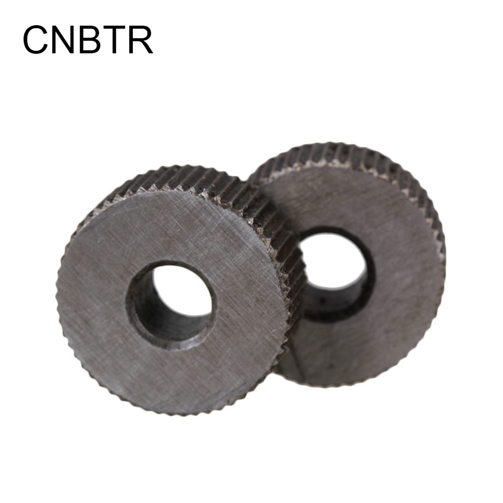CNBTR 2pcs Knurling Tool Silver Single Straight Wheel Linear Knurl Tool 1mm Pitch 1 8mm 0 07 pitch straight linear knurl knurling tool