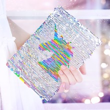 Unicorn Sequin Notebook with Pen and Keychain