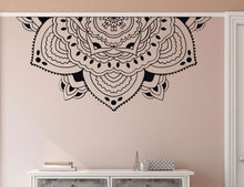 Home Decor Half Mandala Wall Decal Meditation Style Bedroom Mural Car Window Sticker Headboard Decals MTL14