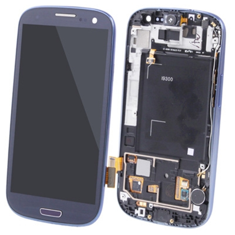 Original LCD Display + Touch Panel with Frame for Galaxy SIII / i9300 Original LCD Display + Touch Panel with Frame for Galaxy SIII / i9300
