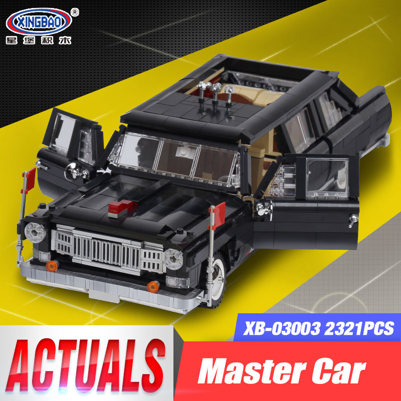 XingBao 03003 2327Pcs Genuine Creative MOC Technic Series The HongQi Master Car Set Building Blocks Bricks Children Toys Model doinbby store 21004 1158pcs with original box technic series f40 sports car model building blocks bricks 10248 children toys