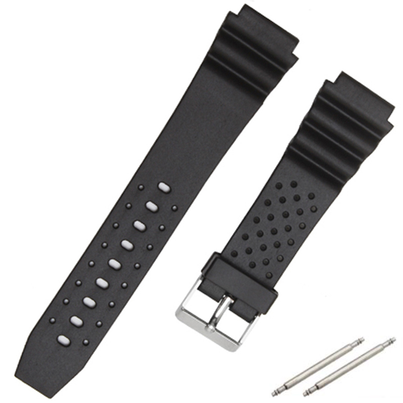 18mm 20mm 22mm Black Rubber Silicone Watchband With Buckle For Casio G-SHOCK Watch Straps Belt