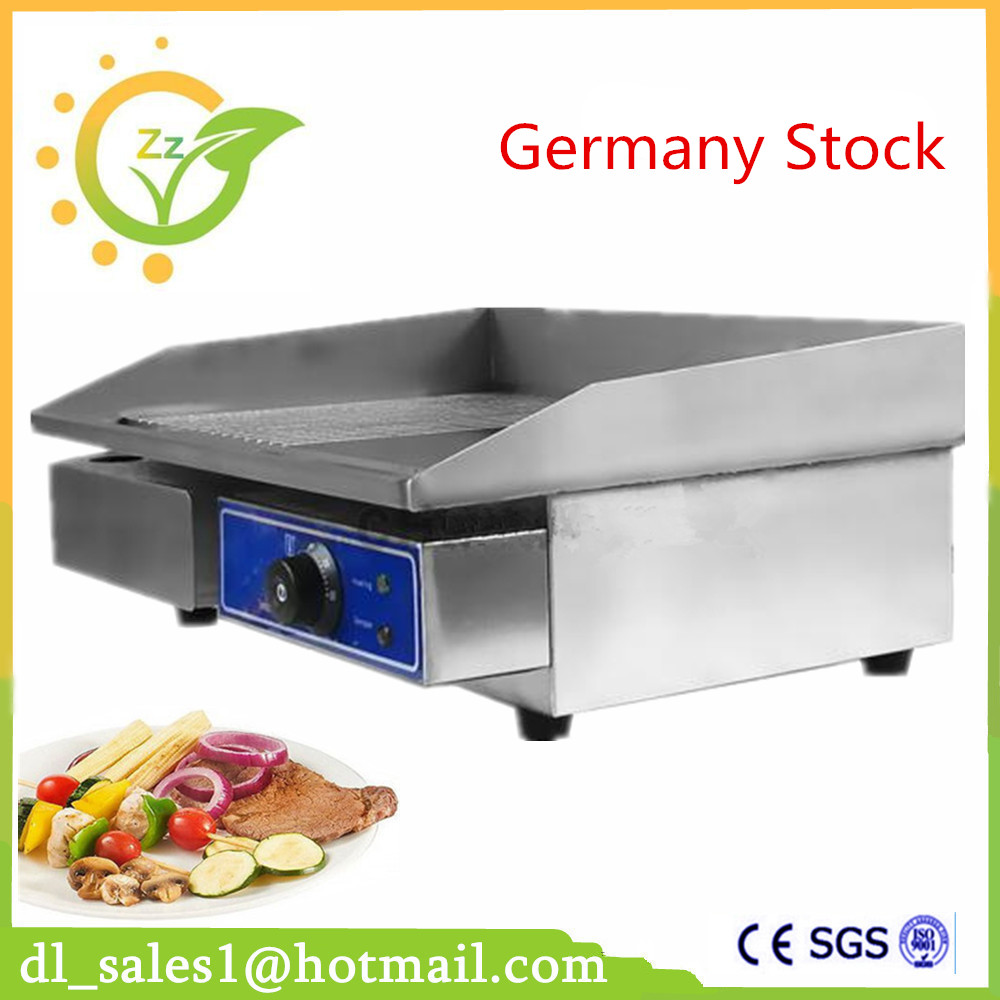 Stainless steel flat electric griddle teppanyaki machine electric BBQ Grill fried pans automatic smokeless bbq grill household electric hotplate stove teppanyaki barbecue pan skewer machine stainless steel outdoor