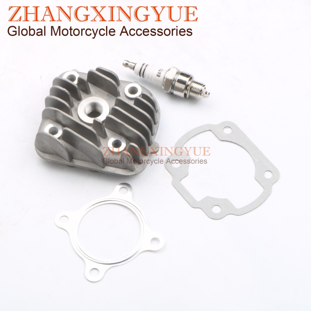 40mm 44mm 47mm 1PE40QMB cylinder head & E6TC Spark Plug & Cylinder Gasket for Adly Her Che Noble Matador 50 2T