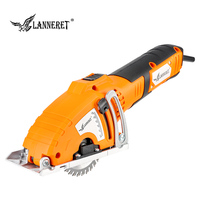 LANNERET Mini Circular Saw 700W Mini Saw Handy Tool, 3pcs Blades, Parallel Guide Attachment Tools for Wood Saw Metal Saw