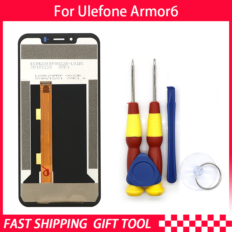 New original Touch Screen LCD Display LCD Screen For Ulefone Armor 6 Replacement Parts + Disassemble Tool+3M AdhesiveNew original Touch Screen LCD Display LCD Screen For Ulefone Armor 6 Replacement Parts + Disassemble Tool+3M Adhesive