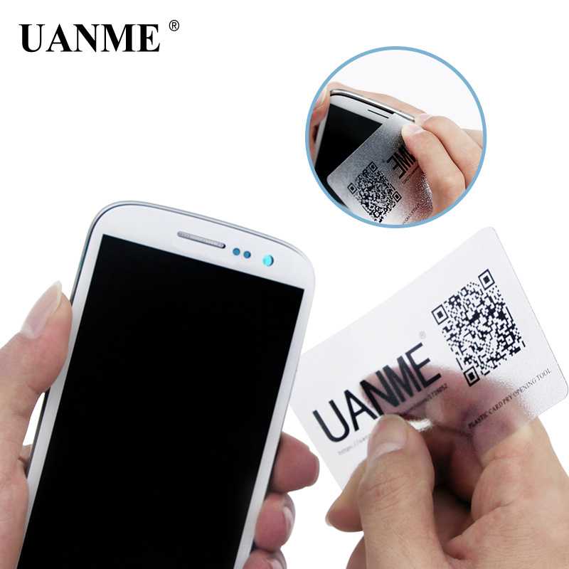 UANME 85*54mm Handy Plastic Card For iPhone iPad Tablet Pry Opening Scraper For Samsung Mobile Phone Glued Screen Repair ToolUANME 85*54mm Handy Plastic Card For iPhone iPad Tablet Pry Opening Scraper For Samsung Mobile Phone Glued Screen Repair Tool