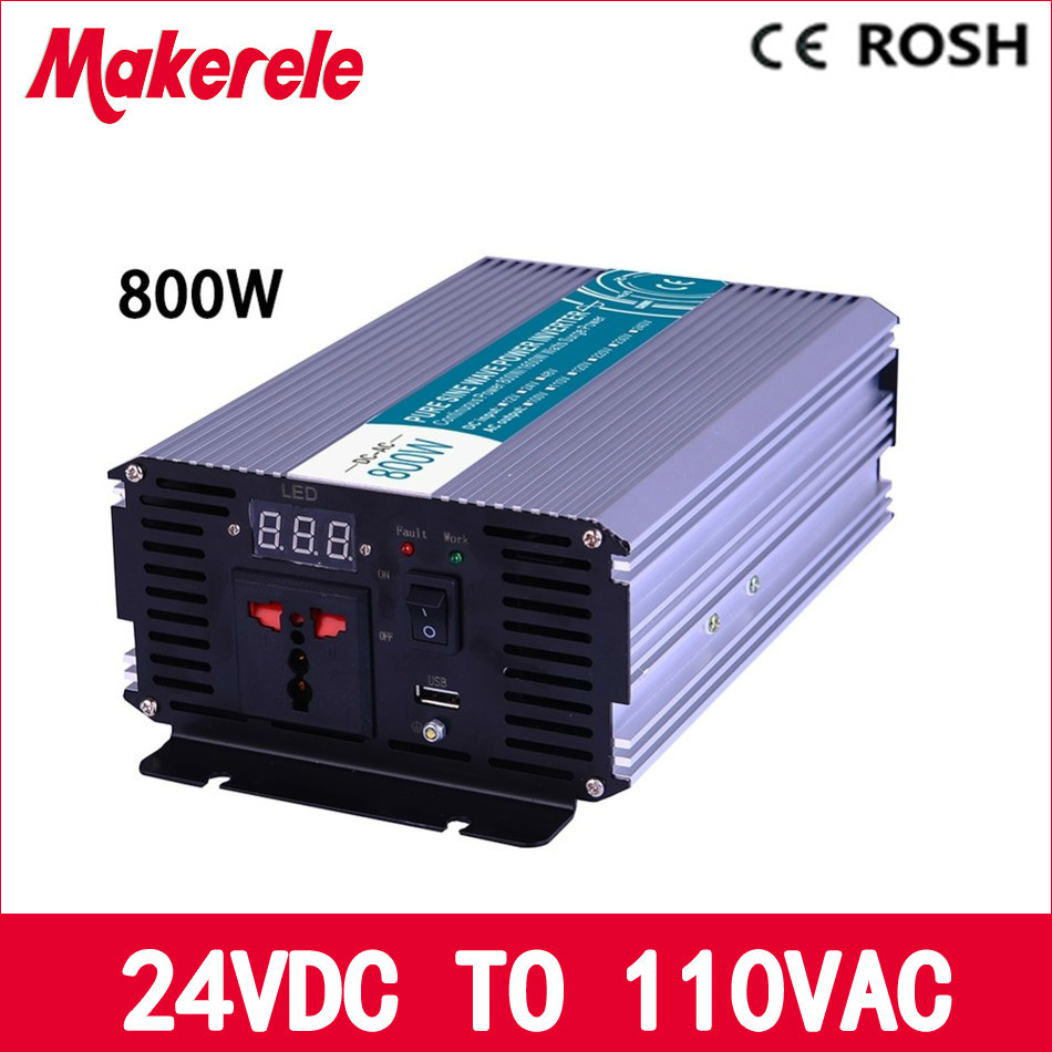 MKP800-241 off grid 24v to 110v output 800W pure sine wave go power inverter  voltage converter,solar inverter LED Display mkp1200 241 1200w pure sine wave power inverter 24vdc to 110vac off grid voltage converter solar inverter