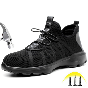 Safety Shoes For Men and Women Puncture Proof Steel Toe Cap Lightweight Breathable Insulation Safety Protective Boots Work shoes