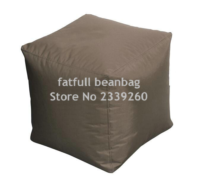 cover only no filler brown bean bag ottoman pouf ottoman square ottoman outdoor waterproof. Black Bedroom Furniture Sets. Home Design Ideas