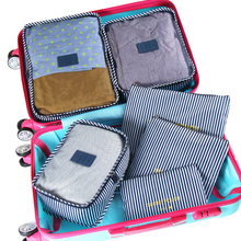 6pcs/set travel storage bags waterproof suitcase bag organizer for clothes tidy organizer home closet divider container