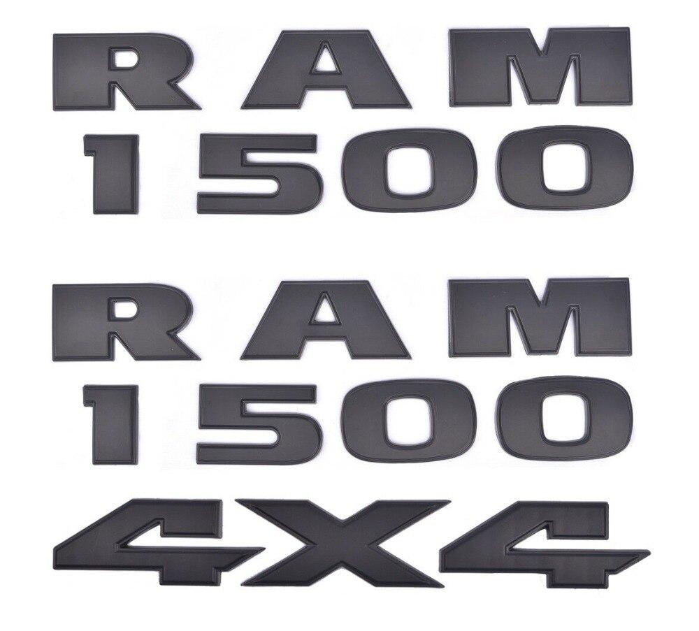 3x OEM RAM 1500 plus 4x4 emblèmes Badge 3D emblème décalque plaque signalétique noir mat pour Dodge