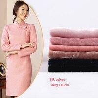 Factory direct high end cheongsam silk woven velvet high fashion non elastic silk fabric