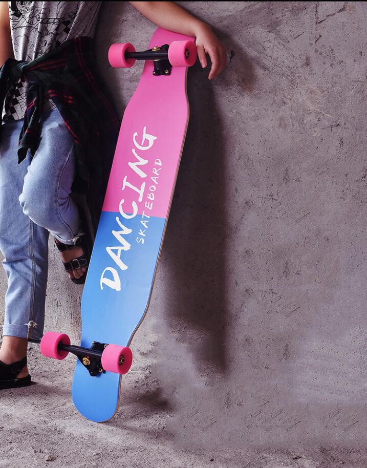 Image 5 - 117cm Professional Complete Longboard Skateboard Street Dancing Longboard Skateboard Downhill Maple Deck Board-in Skate Board from Sports & Entertainment