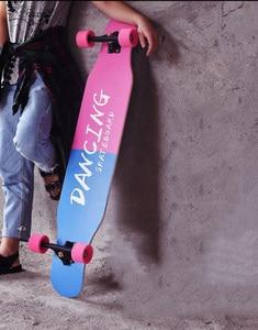 Image 5 - Monopatín Longboard profesional completo de 117cm Baile callejero tabla Longboard tabla Downhill Tabla de cubierta de arce