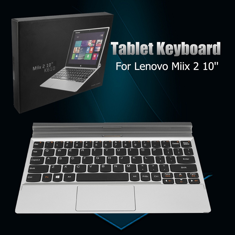New Original For Lenovo Miix 2 Tablet Keyboard Dock K610 New 10inch Tablet Keyboard Case For Lenovo With Topcase and TrackPad bluetooth keyboard for lenovo miix 300 10 8 miix 310 320 tablet pc wireless keyboard miix 4 5 pro miix 700 miix 510 720 case