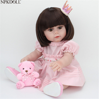 NPKDOLL Reborn Baby Doll Full Body Silicone 17 Inch Collectible Realistic Dolls Kids Toys For Girls Fashion Toys Christmas
