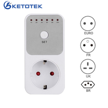 Electronic Timer Swtich AC 220V Countdown Timer Switch Controller 6 Groups Timing Control Tools