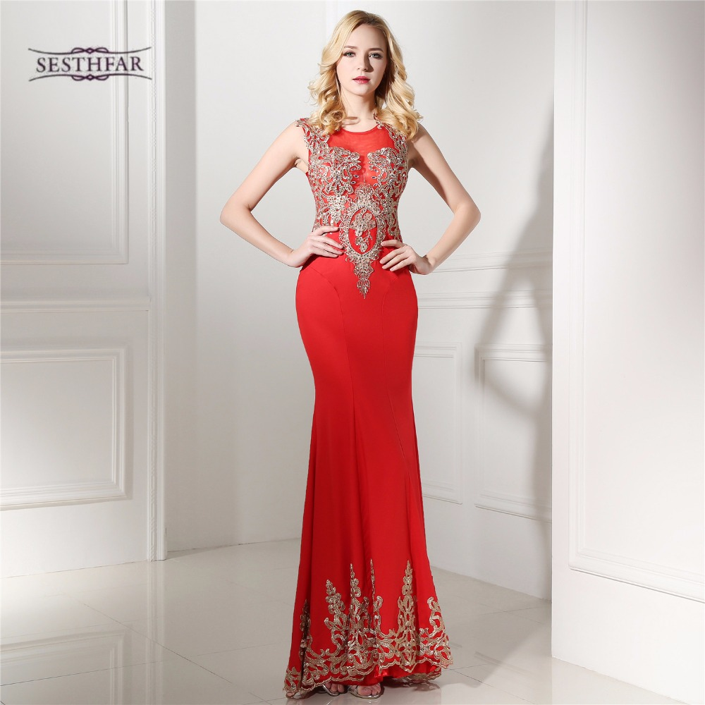 Popular Red Gold Dubai Evening Dress-Buy Cheap Red Gold Dubai ...