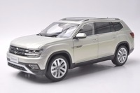 1 18 Diecast Model For Volkswagen VW Teramont Atlas 2017 Silver Large SUV Alloy Toy Car